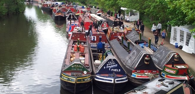 Flotilla of Traditional Canal Boats